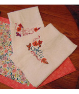 His and Hers Fall Embroidered Hand Towel Set - $27.00