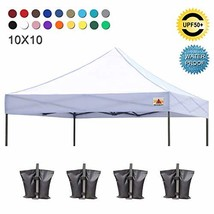 ABCCANOPY Pop Up Canopy 10x10 Replacement Canopy Cover 100% Waterproof C... - $101.41