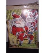 Humorous Funny Holiday Christmas Cards SANTA'S LAP 18 cards and envelope... - $5.93
