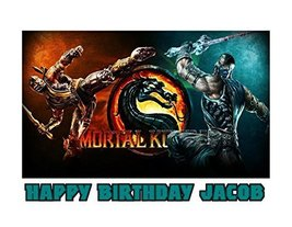 Mortal Kombat Sub-Zero Scorpion Image Photo Cake Topper Sheet Personaliz... - $8.50