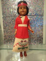 """Native American Indian Tourist Souvenir Style Doll 10"""" Tall Plastic - $19.40"""