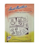 Floral Motifs Aunt Marthas 3588 Vintage Hot Iron Transfer Needlework Pai... - $7.99