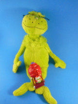 "Grinch Plush Toy 14 "" Manhattan Toy Plus Christmas Ornament Grinch on Sleigh - $12.46"