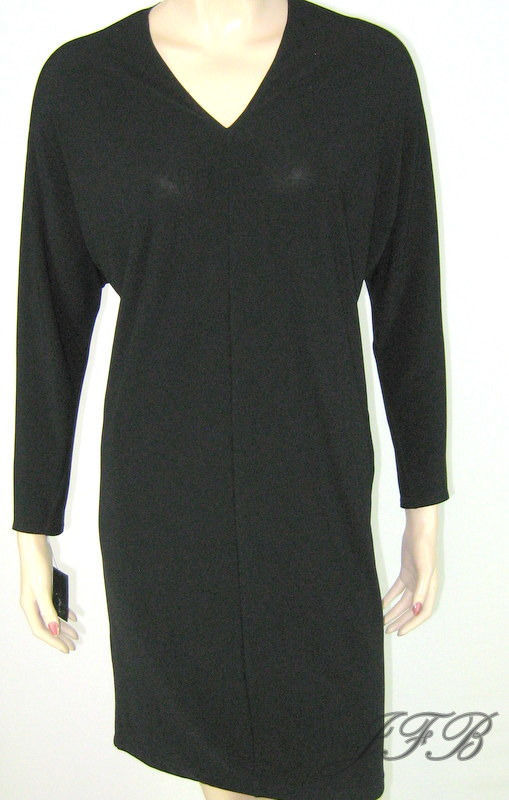 Francisco Costa for Calvin Klein Black Jersey Knit Dress Size 6 $140 New 8019