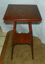 Solid Oak Lamp Table / Side Table  (T478) - $299.00