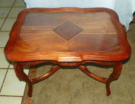 Walnut Inlaid Top Coffee Table with Serving Tray  (CT105) - $599.00