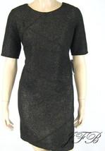 AGB Dress Black Gold Short Sleeve Sheath Knee Length Dress Size 10 P New... - $29.69