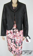 Le Suit Black Floral  Jacket Blazer Sleeveless ... - $62.99