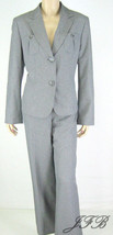 "Le Suit Gray Peplum Jacket Blazer Pant Suit 31"" Inseam Sz 12 $200 New 7838 - $62.36"