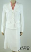 Evan Picone NWT Ivory Jacket Blazer Skirt Suit ... - $62.99