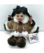 "Alaskan Friends Princess Cruise Eskimo Girl Doll Inuit Faux fur 12"" - $19.77"