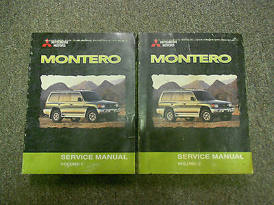 2000 MITSUBISHI Montero Shop Service Repair Manual Set FACTORY BOOKS OEM 00 x
