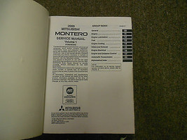 2000 MITSUBISHI Montero Shop Service Repair Manual Set FACTORY BOOKS OEM 00 x image 2