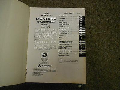 2000 MITSUBISHI Montero Shop Service Repair Manual Set FACTORY BOOKS OEM 00 x image 7