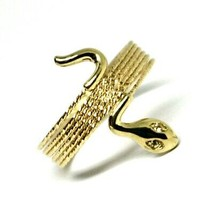 18K YELLOW GOLD MAGICWIRE MULTI WIRES RING, ELASTIC WORKED SNAKE, WHITE TOPAZ image 2