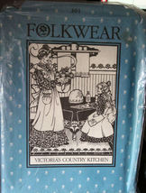 Pattern 301 Folkwear - Victoria's Country Kitchen - Linens & Pinafore Ap... - $12.99