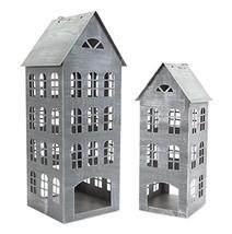 """Set of 2 Iron House Candle Holder Lanterns 23.5"""" - $156.12"""