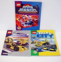 Lego Masterbuilders 3 Instruction Books Mars City Create N Race - $12.99
