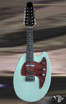 Hammerton Mandotar 12 string mandolin Electric Seafoam Green with hardsh... - $795.00