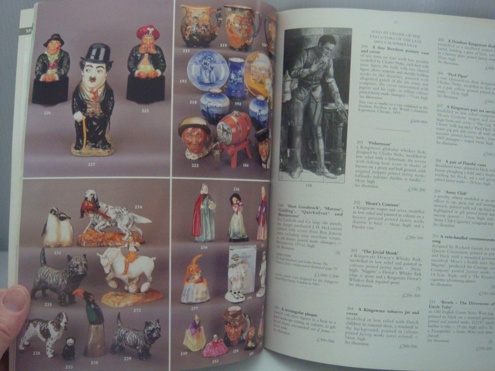 CHRISTIE'S AUCTION CATALOG 1997 CHINTZ, BESWICK, DOULTON, POOLE, CARLTON WARE