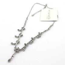 "Marvella By Monet Floral Design Marcasite Necklace 18"" Adj New - $12.99"