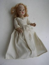"""Vintage,  Elegant 6.5"""" Composition Face Doll in White Gown - $17.05"""