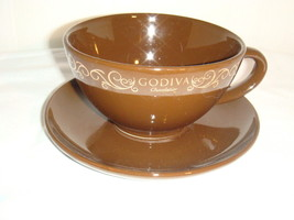 "OVERSIZE MONSTER CHOCO BROWN COFFEE CUP ""GODIVA... - $14.80"