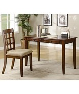 Desks Table Desk with Two Drawers & Desk Chair Chestnut - $708.77