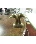 "VINTAGE  PAIR OF BRASS DUCK BOOK ENDS    6"" HIGH ON 3"" BASE      - $17.50"