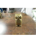 "VINTAGE SOLID BRASS OWL   LARGER 4 ½"" HIGH  2 ½"" WIDE 2"" DEEP      - $12.00"