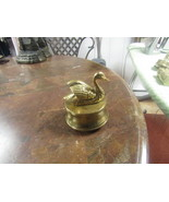 "WIND UP BRASS MUSICAL SWAN   ""SWAN LAKE""   4 ½"" HIGH  3 ½"" BASE            - $29.00"
