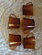 VINTAGE  DURALEX Amber Glass Coffee Cups - $15.00