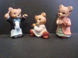 Homco Bears 1422 Musicians Lot of 3 Items - $3.99