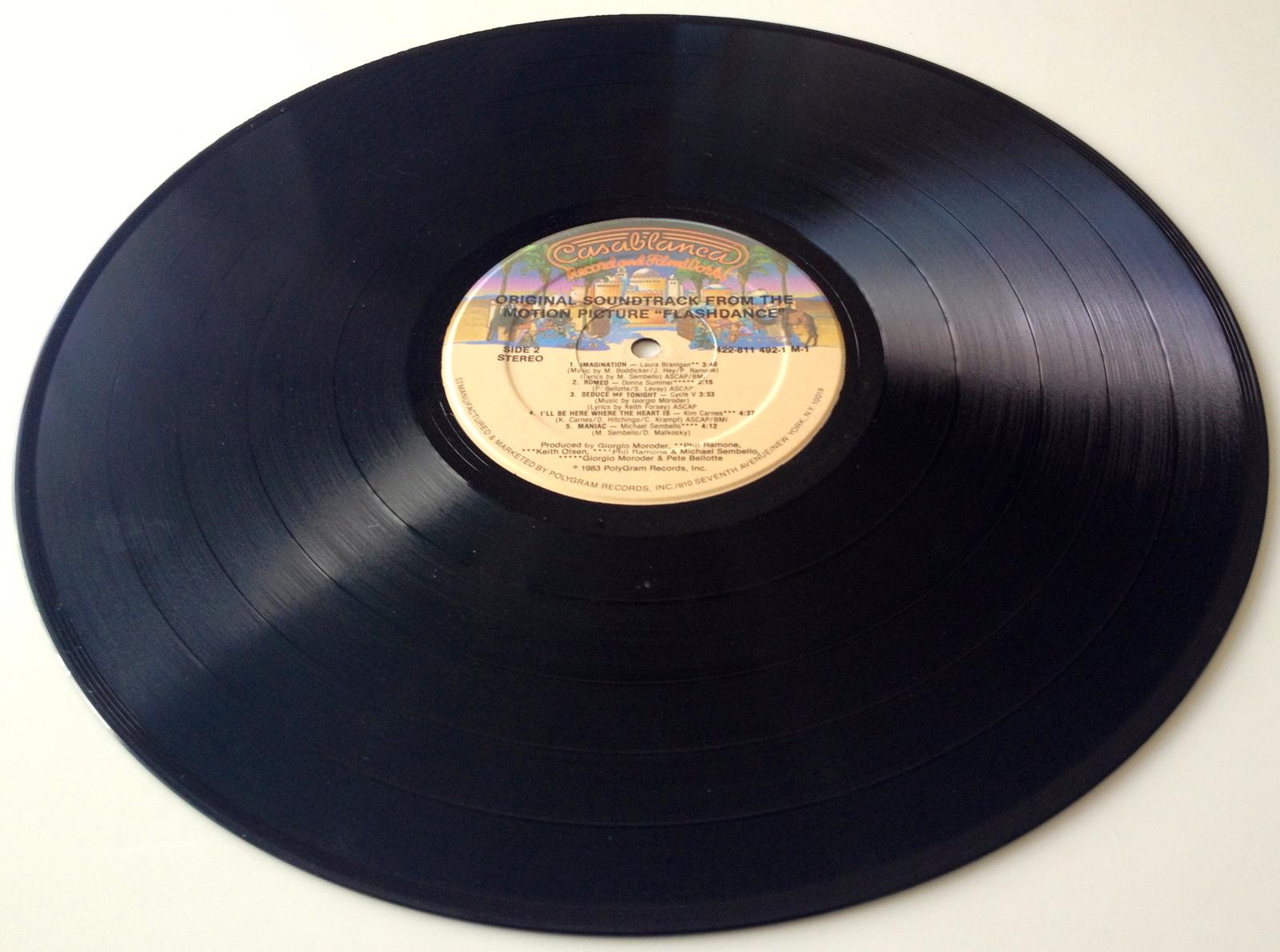 Flashdance Original Soundtrack LP Vinyl Record Album, 1983, Original Pressing