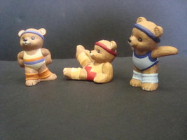 Homco Exercise Bears 1448 Lot of 3 Items - $8.99