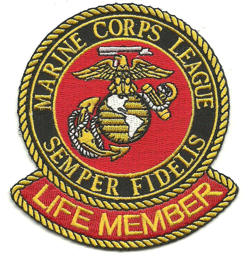 Primary image for USMC US Marine Corps League Semper Fidelis Military Patch LIFE MEMBER