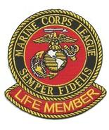 USMC US Marine Corps League Semper Fidelis Military Patch LIFE MEMBER - $9.99