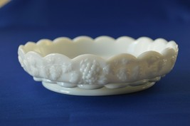 "Westmoreland Paneled Grape Milk Glass Salad Bowl 6 3/4"" top Diameter 1 3... - $14.85"