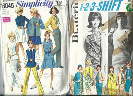 Lot 2 Vintage Women Miss Clothing Patterns Sewing Dress Outfits Pants Size 14 - $7.91