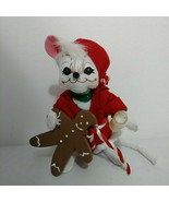 """Annalee 6"""" Mouse With Milk And Cookies Candycane - $22.20"""