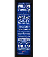 "Personalized Buffalo Bills 24 x 8 ""Family Cheer"" Framed Print - $39.95"