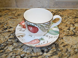 Franciscan Vegetable Medley cup and saucer and salad plate - $12.82