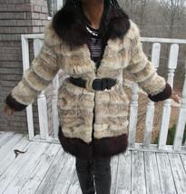 Classy Designer midi Lynx fur & fox Fur Opera Coat Jacket Bolero Stroller S-6 - $669.00