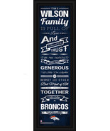 "Personalized Denver Broncos 24 x 8 ""Family Cheer"" Framed Print - $39.95"