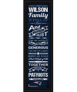 "Personalized New England Patriots 24 x 8 ""Family Cheer"" Framed Print - $39.95"