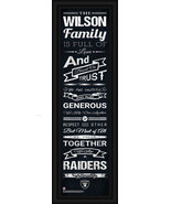 "Personalized Oakland Raiders 24 x 8 ""Family Cheer"" Framed Print - $39.95"