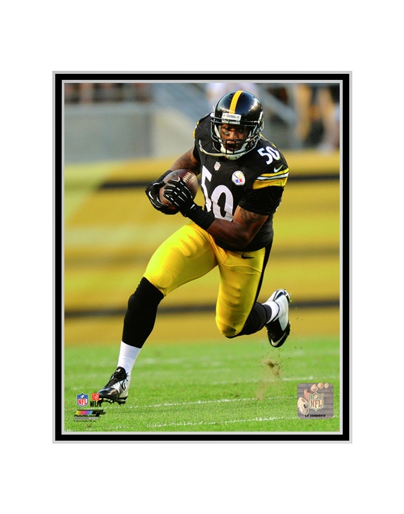 Matted Ryan Shazier 2014 Action Pittsburgh Steelers Photo Aarc192 Mat Sports Mem Cards Fan Shop