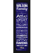 "Personalized Baltimore Ravens 24 x 8 ""Family Cheer"" Framed Print - $39.95"