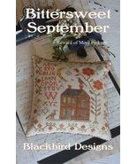 Bittersweet September Reward Of Merit cross stitch chart Blackbird Designs - $7.20