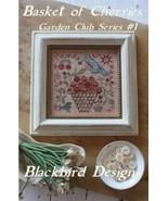 Basket of Cherries #1 Garden Club Series cross stitch chart Blackbird De... - $9.00